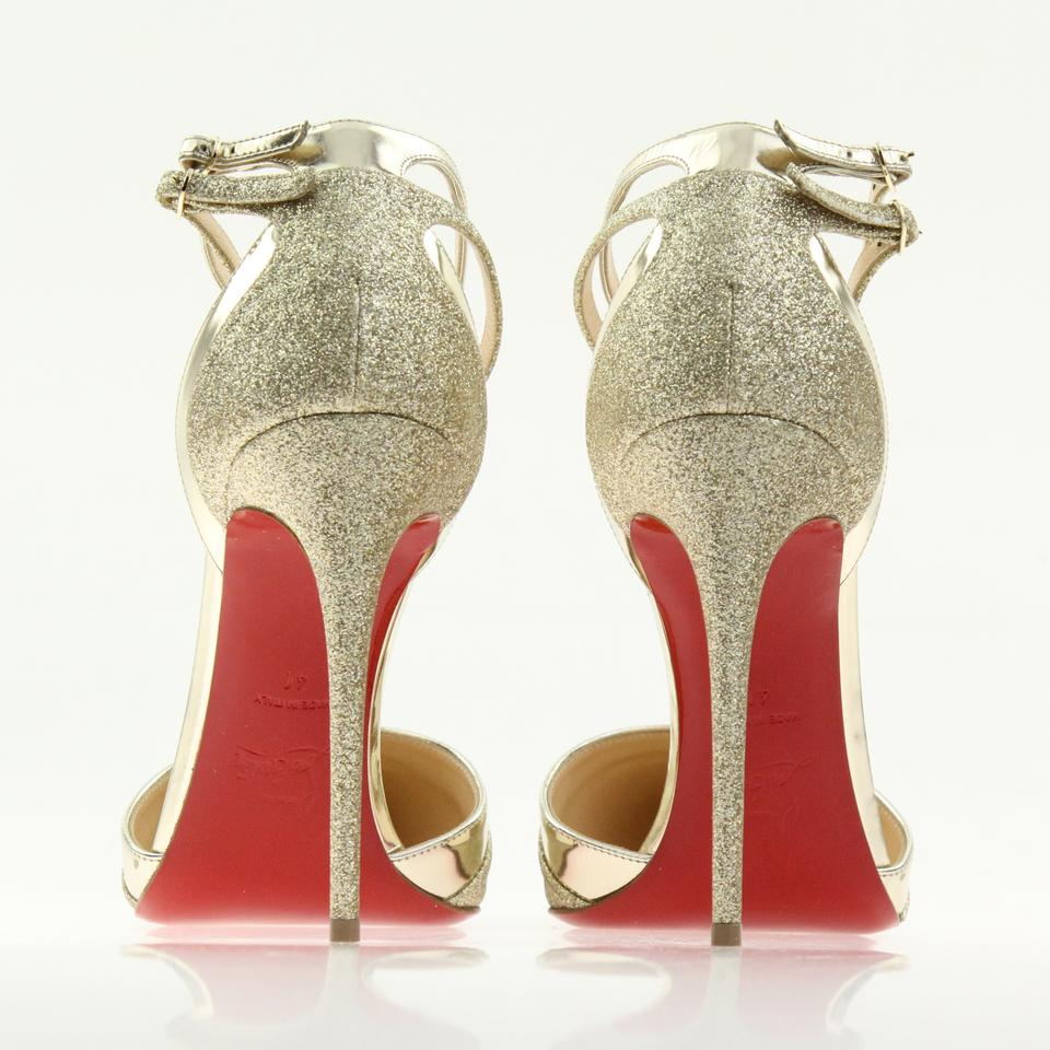 9e7c28dd1b3 Platine and Light Gold Uptown Double 100mm Glitter Tonic/Specchio Pumps 26%  off retail