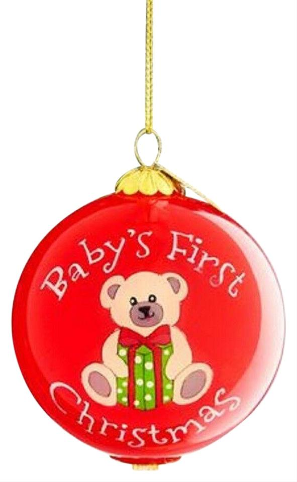 Pier 1 Christmas Ornaments.Pier 1 Imports Red Box Bien Baby S First Christmas 2018 Ornament New In