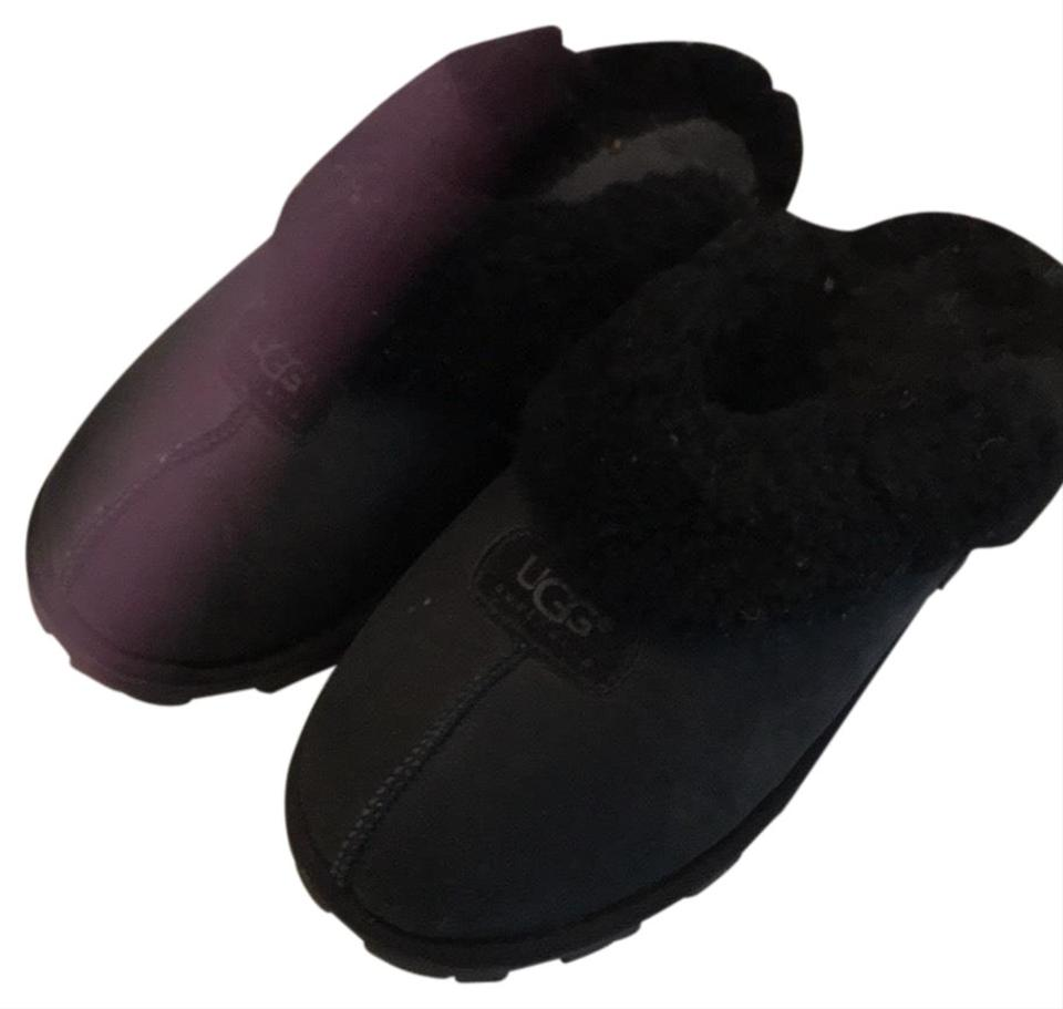 be0daafe06a UGG Australia Black Cosy Uggs Slip On Slippers Mules/Slides Size US 10  Regular (M, B) 60% off retail