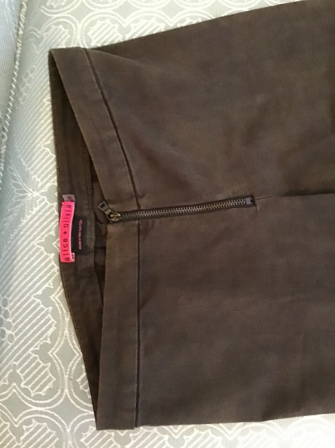 Alice + Olivia Straight Pants Brown Image 1