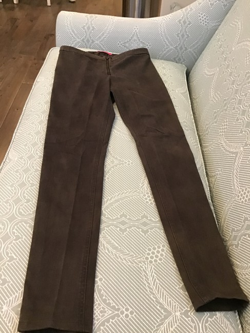 Alice + Olivia Straight Pants Brown Image 2