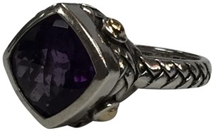 EFFY EFFY Amethyst Ring in Sterling Silver with 18k Yellow Gold 3.5 ct t.w.