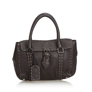 dbaad6dd28 Added to Shopping Bag. Fendi 8lfnto022 Tote in Brown. Fendi Selleria Mini  Linda Brown Leather ...