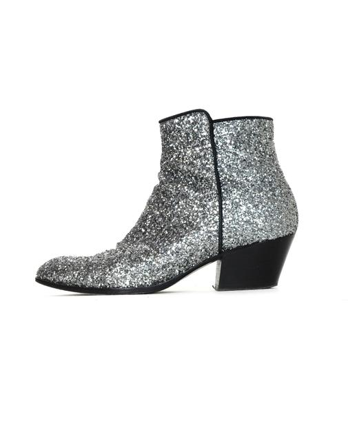 Item - Silver Glitter Ankle Boots/Booties Size EU 38 (Approx. US 8) Regular (M, B)
