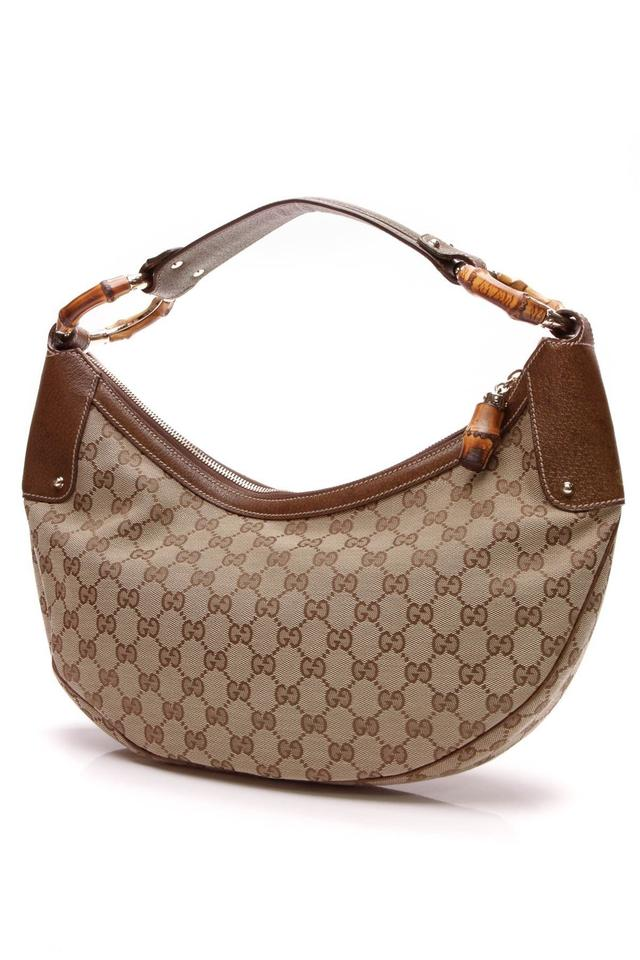 Gucci Bamboo Ring - Signature Beige Canvas Hobo Bag - Tradesy b8d95bdcc0a91