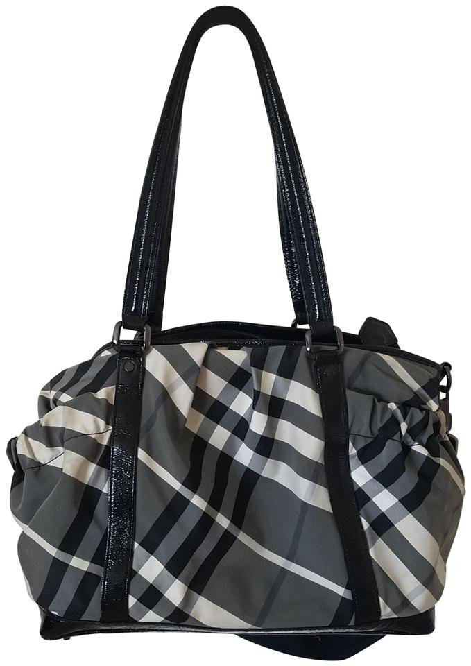 d50bf4fb9fd0 Burberry Travel Computer Satchel in Black Grey White Plaid Image 0 ...