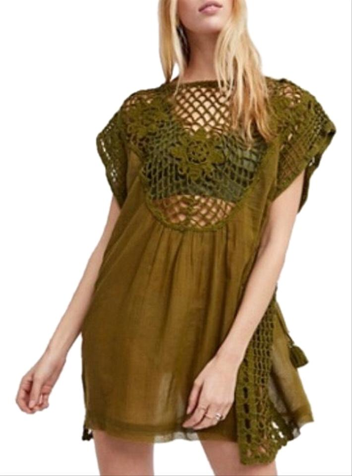 9e8e8e85e42 Free People Green Alissa Short Casual Dress Size 6 (S) - Tradesy