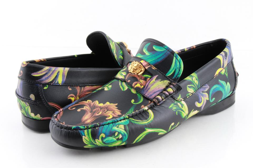 918c578fb64 Versace Multi Color Acid Baroque Print Leather Loafers Shoes - Tradesy