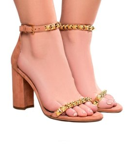 Stuart Weitzman Stud Leather Summer Brown Sandals