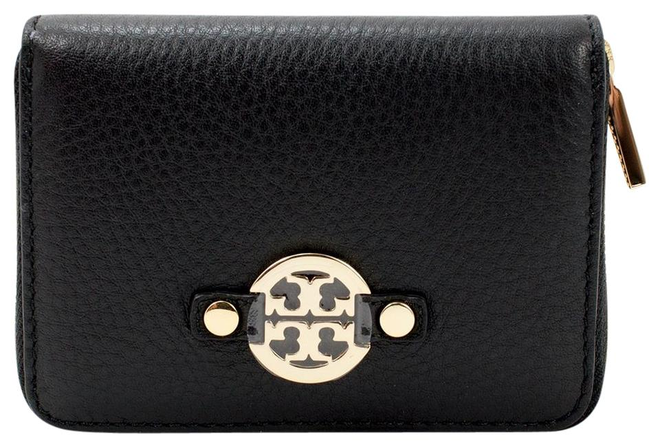 cb024fef1c14 Tory Burch Amanda Leather Zip Coin Case Black Image 0 ...