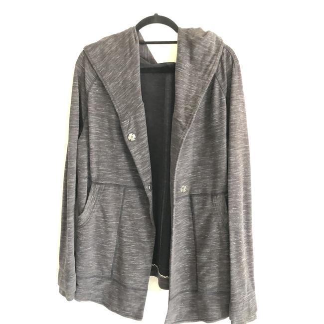 Item - Grey Sweater Coat with Hood Activewear Size 8 (M)