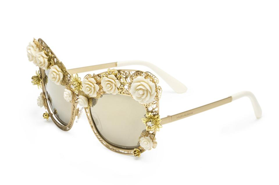 bc04a211c9 Dolce Gabbana DOLCE GABBANA ITALY LIMITED EDITION DG2160-B FLOWERS LACE  SUNGLASSES ...