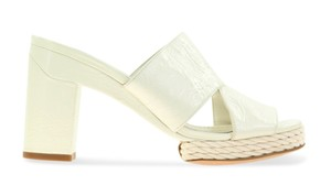 Tory Burch Block Heel White Mules