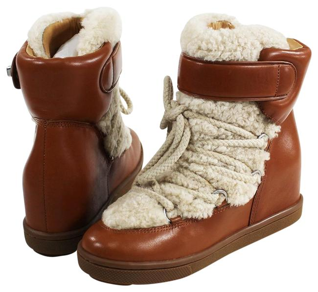 Item - Brown Monroe Shearling Leather Boots/Booties Size US 8.5 Regular (M, B)