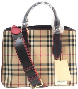 2564c8110bc6 Burberry Derby Camberley Mahogany Red Leather Tote - Tradesy