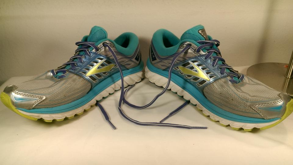 a1242b214f72d Brooks Teal Green Yellow Blue Glycerin 14 Woman s Synthetic Jogger ...