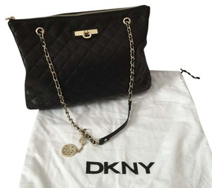 DKNY Quilted Nappa Leather Leather Shoulder Bag