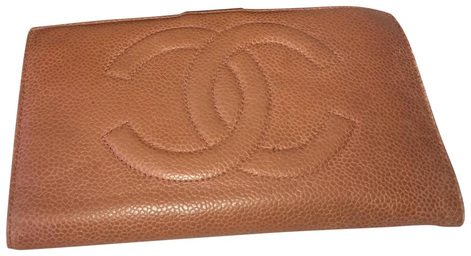 480efa0d306079 Chanel on Chain Wallet Brown Caviar Leather Clutch - Tradesy