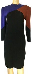 St. John short dress black Knit Santana Sweater Sheath on Tradesy