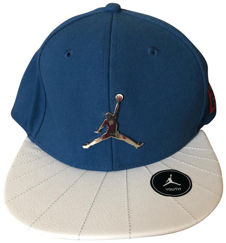 3a8ff17ae194d3 Air Jordan Blue and White Used Youth Hat - Tradesy