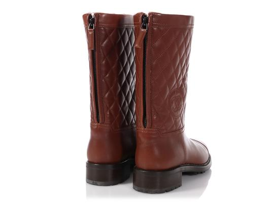 e8a35860af4031 Chanel Brown Shearling Quilted Boots/Booties Size EU 39 (Approx. US ...