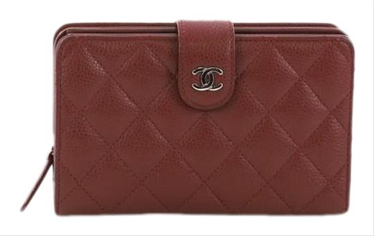 faf3004548a5 Chanel French Wallet Quilted Caviar Red Leather Wristlet - Tradesy