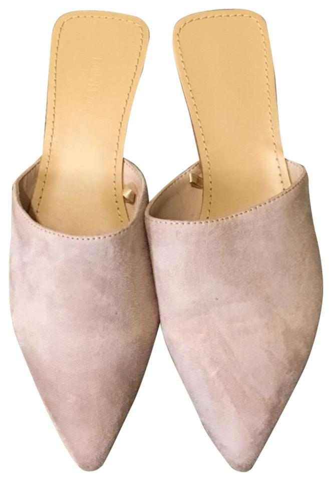 Forever 21 Nude Pink Suede Mule Flats Size US 7.5 Regular (M 83d3562f7e