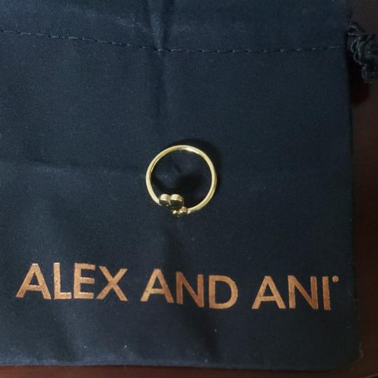 Alex and Ani Alex and Ani gold tone adjustable double heart ring. Perfect gift for valentine's day! Image 1