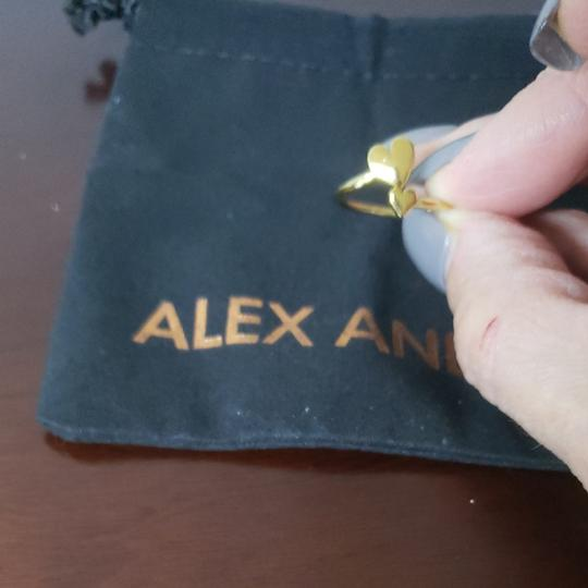Alex and Ani Alex and Ani gold tone adjustable double heart ring. Perfect gift for valentine's day! Image 2