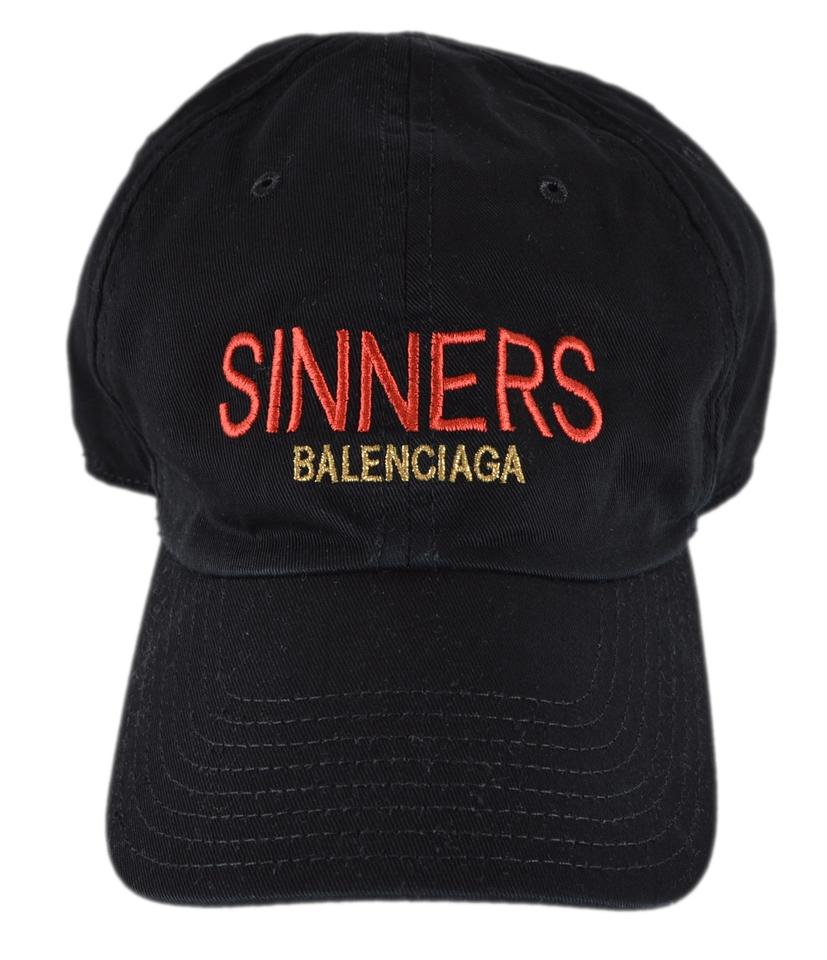 049d79ba883b4 Balenciaga Black New Men s Sinners Baseball Large 59 Cm Hat - Tradesy