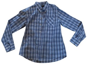 Ben Sherman Button Down Shirt Blue and White