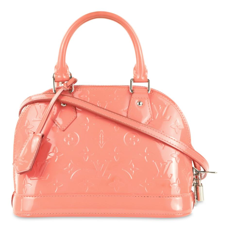882ea1d557fa Louis Vuitton Alma Bb Rose Litchi Pink Patent Leather Satchel - Tradesy