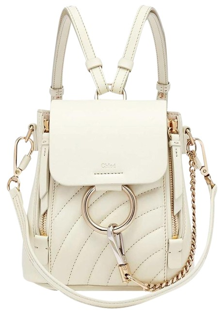Item - Faye Quilted Natural White Leather Backpack