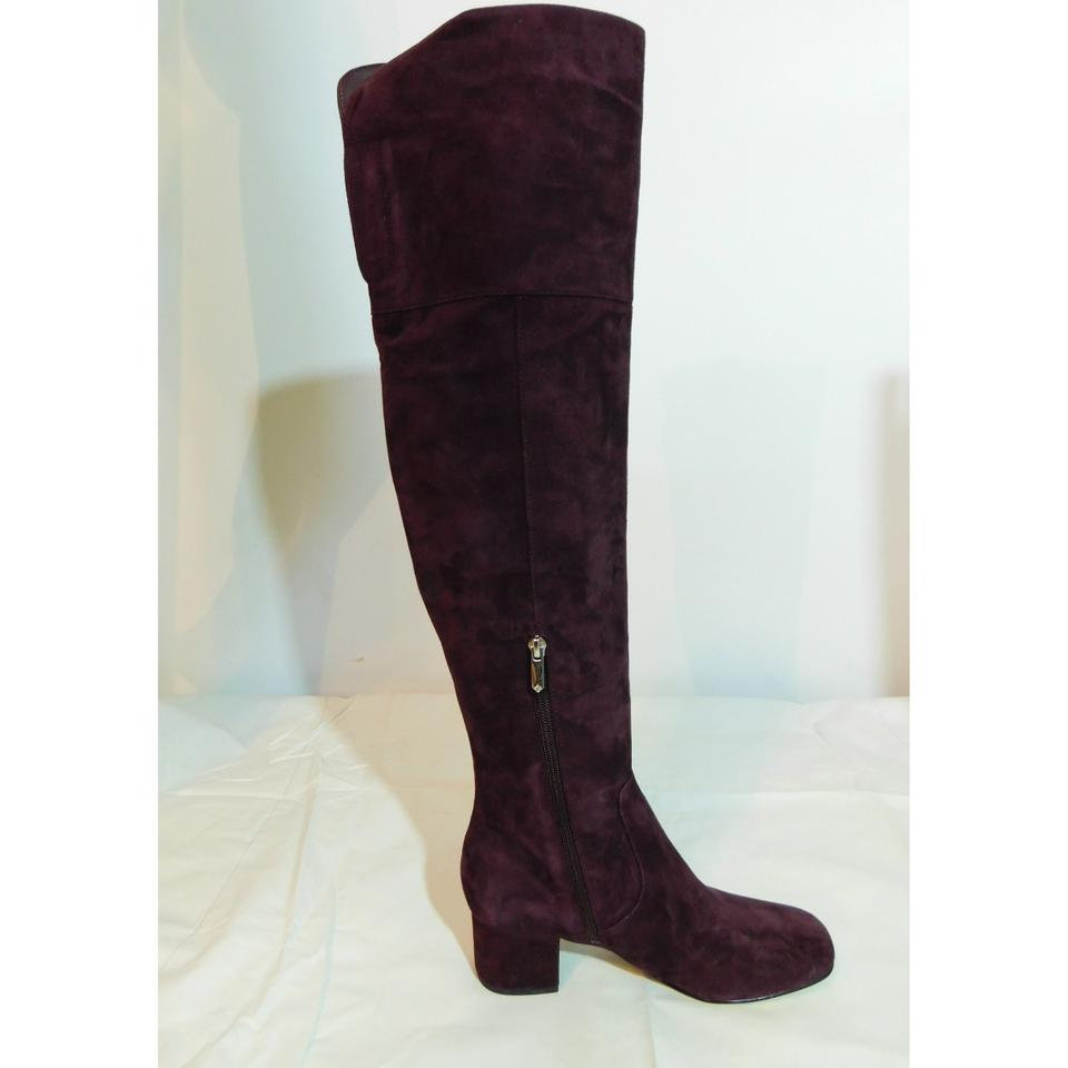19c4a3229aed Sam Edelman Burgundy New Elina Over The Knee Boots Booties Size US ...