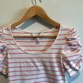 Forever 21 Striped Ruched Tee Shirt Size 8 (M) Forever 21 Striped Ruched Tee Shirt Size 8 (M) Image 4