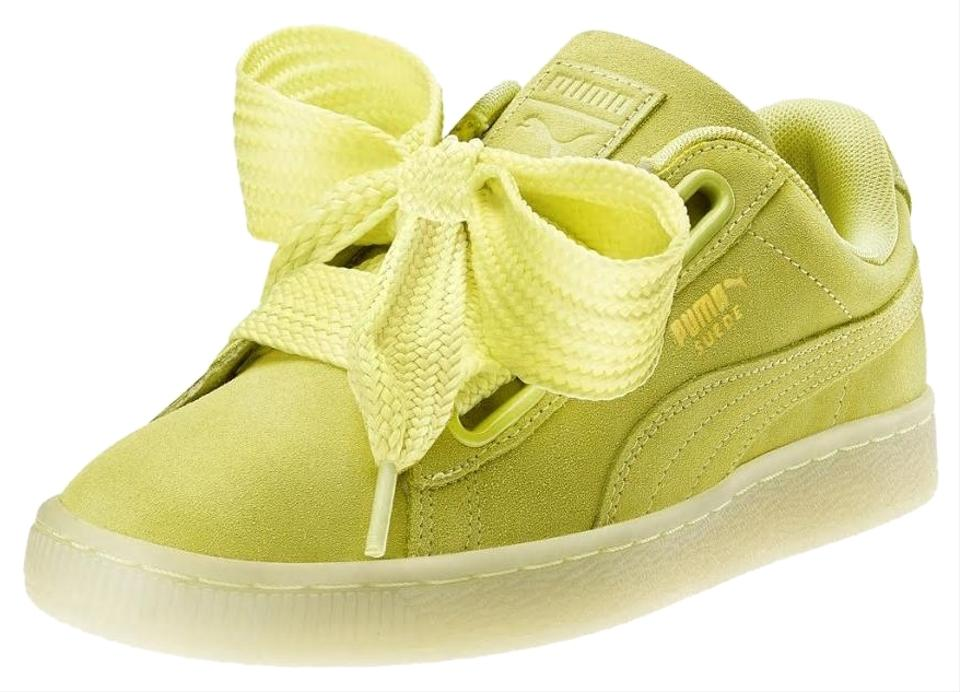 low priced 66674 06950 Puma Yelow Suede Heart Reset Women's New Sneakers Size US 8.5 Regular (M,  B) 55% off retail
