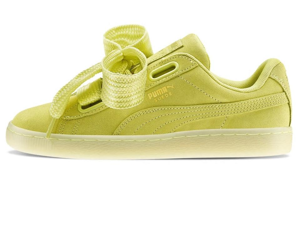 low priced 2ee56 0c407 Puma Yelow Suede Heart Reset Women's New Sneakers Size US 8.5 Regular (M,  B) 55% off retail