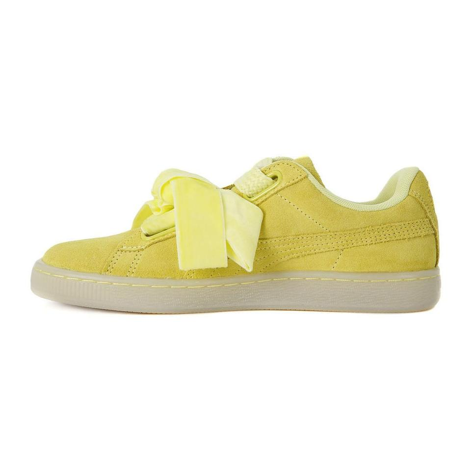 low priced d0cbb 051bb Puma Yelow Suede Heart Reset Women's New Sneakers Size US 8.5 Regular (M,  B) 55% off retail