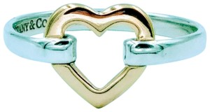 Tiffany & Co. Tiffany 18K Gold Open Heart & Sterling Silber Band ring