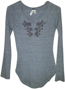Free People Henley Top Grey gray
