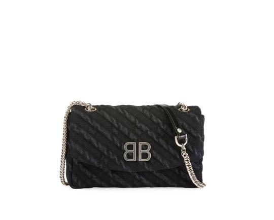 Preload https://img-static.tradesy.com/item/24739619/balenciaga-bb-chain-wallet-destroyed-blue-denim-cross-body-bag-0-0-540-540.jpg
