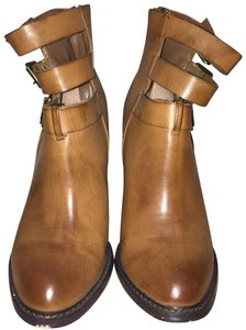 Chinese Laundry Leather Buckle Tan Boots