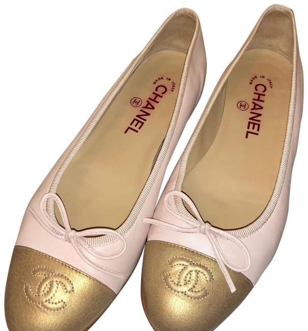 Item - Baby Pink and Gold Ballerinas Rose/Clair Flats Size EU 38.5 (Approx. US 8.5) Wide (C, D)