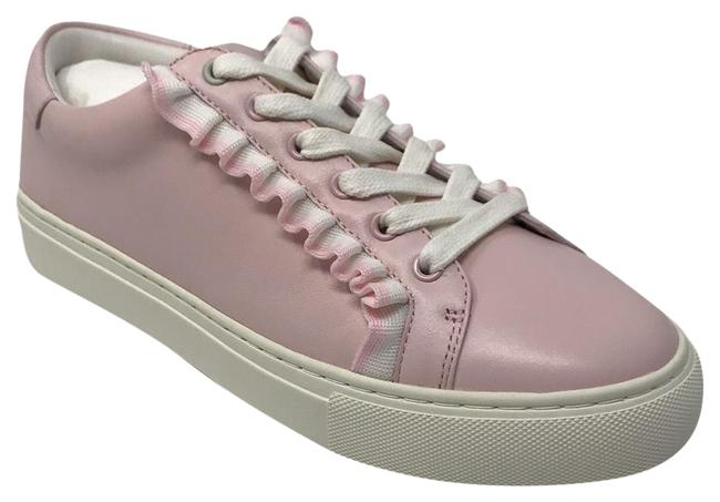 Item - Sport Pink Leather Sneakers Size US 8 Regular (M, B)