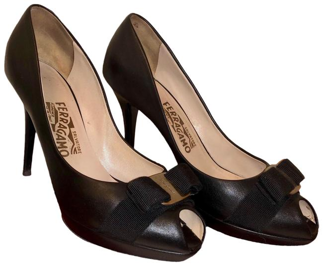 Item - Black with Silver Hardware Gillia 100mm Pumps Size EU 38 (Approx. US 8) Wide (C, D)