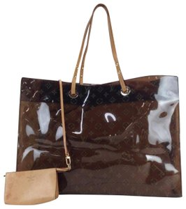 Louis Vuitton Naked Translucent See Through Clear Ambre Tote in Brown