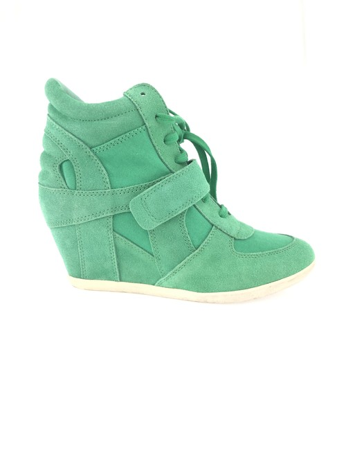 Item - Green Bowie Wedge Sneakers Size EU 38 (Approx. US 8) Regular (M, B)