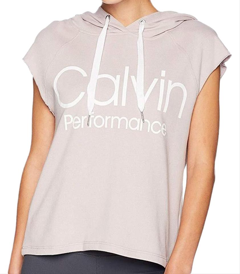 Details about Calvin Klein Women's Muscle Boxy Cropped Sleeveless Logo Hoodie