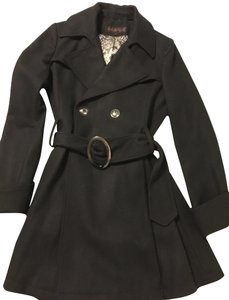 Via Spiga Pleated Belted Pea Coat