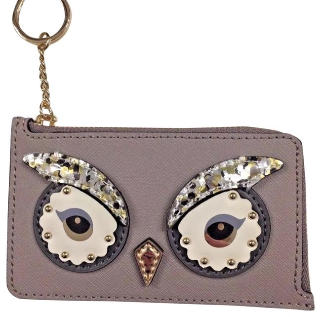 Item - Taupe/Multi Owl Poppy Star Bright Cityscape Credit Card Keychain Sequins